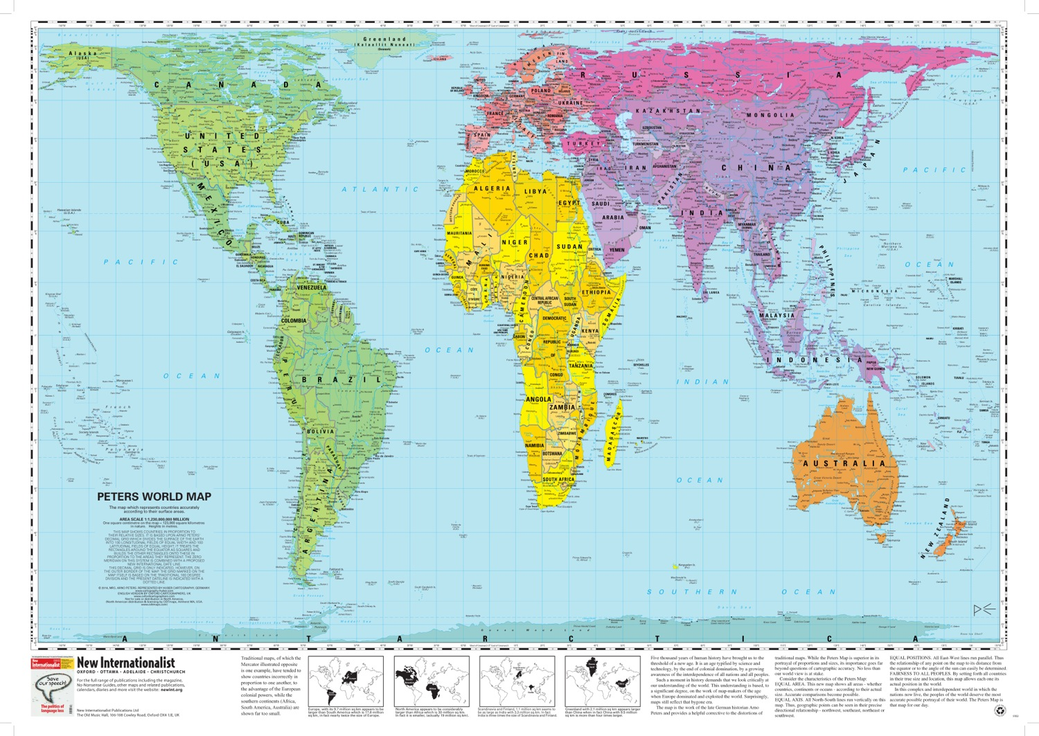 Peters projection map widely used in educational and business circles peters world map peters projection map gumiabroncs Image collections